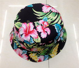 New Arrival Bucket Hat For Women Cotton Fishing Outdoor Cap Summer Flower Sun Hats 7 Prints Available Free Shipping