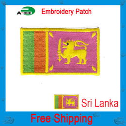 sri lanka flag patch Sew-on cheap price national flag patch clothes decoration iron-on patches sons of anarchy jacket