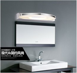 Wholesale 20W headlight stainless steel bathroom mirror cabinet mirror modern minimalist curved arch lamp LED Wall warm white big lamp