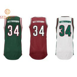 Wholesale Milwaukee Giannis Antetokounmpo Jersey New Material Rev30 sport Breathable jerseys Embroidery Stitched Logos NA147
