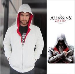 Capas superiores del traje en Línea-2016 Asesinos Venta Nueva Otoño caliente de la novedad completa Creed III 3 Desmond Miles capucha capa superior de la chaqueta del traje de Cosplay regalo
