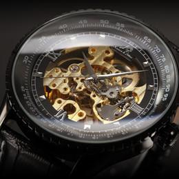Wholesale Classic Luxury Ks Royal Black Big Case Black Automatic Mechanical Skeleton Wrap Relogio Wristwatches Self Wind Men Mechanical Watch KS114