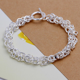 Hot sale best gift 925 silver Leading TO Bracelet DFMCH033,brand new fashion 925 sterling silver plated Chain link bracelets