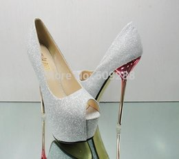 Wholesale-fashion peep toe sexy high heels platform pumps gold silver red wedding shoes women pumps size 35-42