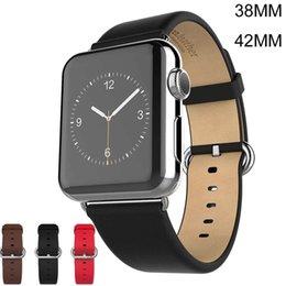 2017 bracelet en cuir véritable HOCO Bracelet pour Apple regarder iWatch bracelet souple en cuir véritable Bracelet Bracelet Wearables bretelles 38mm 42mm avec connecteur adaptateur Strap bracelet en cuir véritable ventes