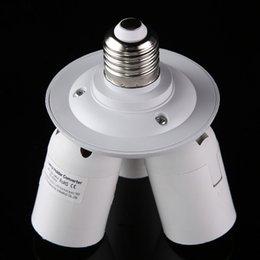 Wholesale 3 in E27 Lamp Holder Standard Light Bulb Lamp Socket Adapter Bulbs Installed in Single Socket Splitter
