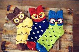 Wholesale Winter Women Fashion Cartoon Owl Short Sock Hot Sale Spring Cute Cotton Sock