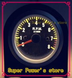 Wholesale Carbon Fiber Face SILVER RIM Tachometer rpm Gauge Auto gauge tachometer Car Meter