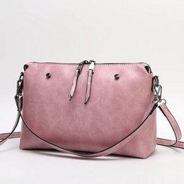 New arrival Hot sale fashion summer women leather messenger bag Casual PU leather women bag vintage women crossbody bag WLHB1164