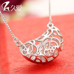 Long love 925 Silver Necklace female love beans necklace silver jewelry accessories Korean fashion chain clavicle