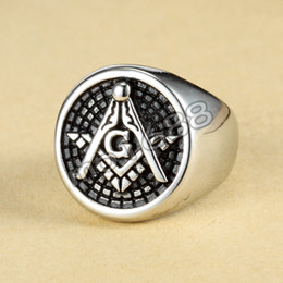Free Shipping 316L Stainless Steel Masonic Ring for Men, Master Masonic Signet Ring, Free Mason Ring Jewelry
