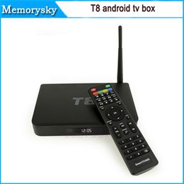 Wholesale TV Box BEST T8 Quad Core Android Stream PC FREE SUPPORT Sports Film Kids k G FREE Support AUTO RESTORE BEST MENU Hot