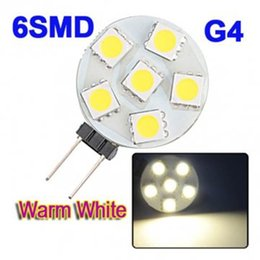 6pcs 5050SMD High Brightness AC DC12V input 1W G4 base LED Bulb Light, WW CW color