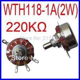 Wholesale WTH118 A W K K ohm Rotary Taper Potentiometer