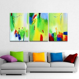 Wholesale High Quality Hand painted Outdoor Pure Fresh Home Decoration Modern Abstract Oil Painting On canvas