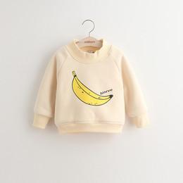 Wholesale baby girls children s clothing Banana and wool cartoon fleece outerwear baby sweater