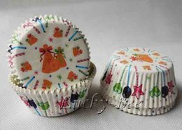 Wholesale 200 Jingle Bells cupcake liners baking mould cupcake boxes fondant cutter for Christmas