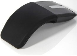 2.4GHz Wireless Optical Mouse Foldable Flat Arc Touch Scroll Mouse with USB Adaptor for Computer Laptop PC