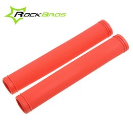 Hot Sale! RockBros Cycling Fixed Gear Grips MTB Mountain Bike Bicycle Handlebar Soft Rubber Grips Cycle Parts,5 Color