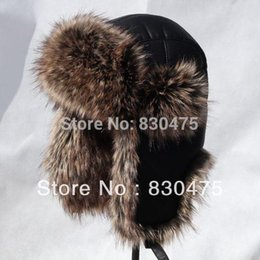 High quality thickening PU leather bomber hats thermal ear hat winter skiing hats