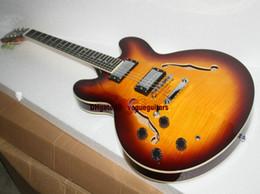 New Arrival Left Handed Jazz Guitar Custom Shop one piece neck 335 Electric Guitar Vintage ebony Senior HIgh Free Shipping HOT Guitar A123