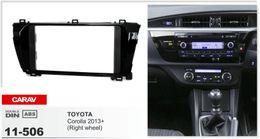 CARAV 11-506 Top Quality Radio Fascia for TOYOTA Corolla 2013+ (Right wheel) Stereo Fascia Dash CD Trim Installation Kit