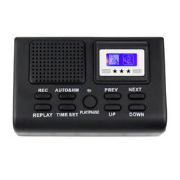 Wholesale Mini Digital Telephone Voice Recorder Phone Call Monitor With LCD Display Support SD Card Y4307A