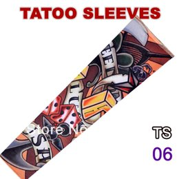 Wholesale-12 PCS TS06 Stretchy Fake Tattoo Sleeves For Women and Man Arm Stockings new 117 kinds of styles sleeve to choose from