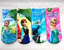 Wholesale 2015 Frozen Princess Anna Kids Cute Christmas Halloween Present New Year s Gifts Lovely Cartoon Little Girls Short Leggings Ankle Socks
