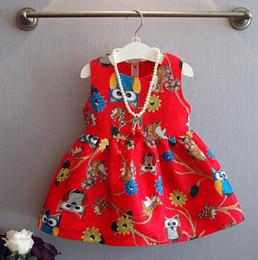 Children dresses Girls Cute owl vest Dress princess dress kids princess dresses baby clothes Girls Dresses Girls clothes children clothes