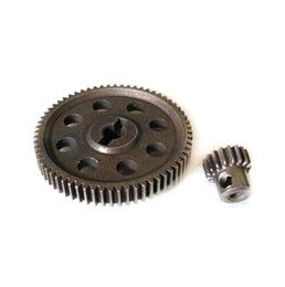 HSP RC 1 10 11184 & 11119 Differential Steel Metal Main Gear 64T Motor Gear 17T