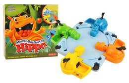 Wholesale Popular Hungry Hippo Table Games Marble Swallowing Hippo Fun Parent Child Interaction Educational Toys for Children Kids