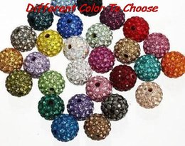 Wholesale mm hotsale mixed color rhinestone crystal Shamballa Beads bracelet spacer fashion can choose color bead