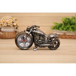 Descuento venta caliente de la motocicleta El regalo de escritorio de la motocicleta del reloj de las agujas creativas vendedoras calientes vendedoras calientes del despertador de la motocicleta del ABS libera el envío