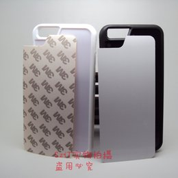 Wholesale For Iphone Plus Iphone S S DIY Sublimation Heat Press TPU PC Cover Case With Metal Aluminium Plates DHL Free