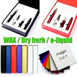 Magic 3in1 kit Evod Mt3 kit Ago g5 kit Wax kits EVOD battery + Mt3 atomizer + Ago g5 atomizer + Wax atomizer E cigarette kit EVOD kit DHL