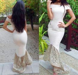 Latest 2016 Mermaid Evening Dresses with Bateau Neck Cap Sleeve Hi Lo Prom Gowns Custom Made