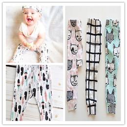 Wholesale Short Leggings Children - children Boutique sales 2016 Toddler trousers Leggings Baby Harem pants shorts vest shorts suits bibs hats