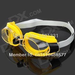 Wholesale 3 in Standard Wide View Swim Goggles Set Yellow