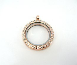 magnetic stainless steel 25mm Glass sparkling rose gold Pendant Living Floating Memory Locket for floating locket charm