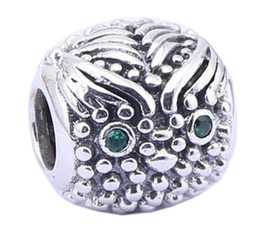100% Sterling Silver Charms 925 Ale vintage Rhinestone Owl Charms for Pandora Bracelets DIY European Beads Accessories