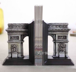 Wholesale Creative architecture bookends Personalized old house bookend Office decoration Vintage Resin court building book shelf stall