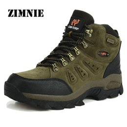 Wholesale High Quality Brand Outdoor Boots Hiking Shoes New Autumn Winter Mens Sport Cool Trekking Mountain Climbing Suede Women Boots