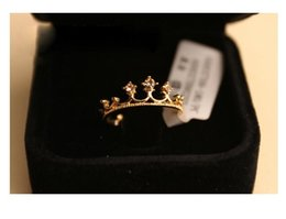 Wholesale 2015 New Fashion Flash Drill Crown Ring Jewelry Shiny Elegant Beauty Ring for women girls top quality