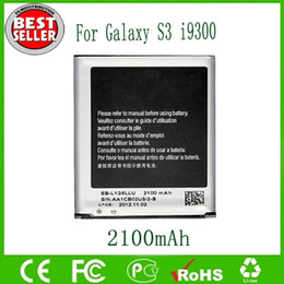 Wholesale S3 Battery EB L1G6LLU For Samsung Galaxy S3 i9300 Batteries mAh V Li ion Battery Replacement Direct Factory Free Ship