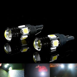 Wholesale 2pcs T10 Car LED Auto Lamp W V Light Bulbs With Bifocal Lens White Light G0692 W0
