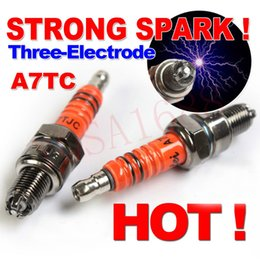 Wholesale Three Electrode High Performance A7TC Motorcycle Spark Plug cc cc cc cc cc ATV Dirtbike cc Moped Scooter