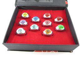 Free Shipping Naruto Cosplay Akatsuki Ninja Uchiha Itachi Deidara Hidan Ninja Accessories Ring 10 Piece set party and Halloween