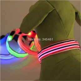 Wholesale 20pcs New Arrival Led Light Collar Favoraite baby Dog Collars Flashing Blinking Led Necklace for Pets MODES Color options order lt no t