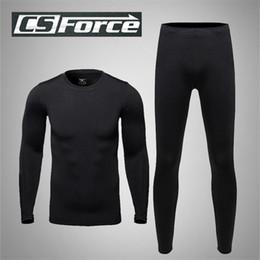 Wholesale Thermal Ski Underwear Men Winter Outdoor Hunting Underwear Suit Quick Dry Base Layers Leisure Running Sport Underwer Suit